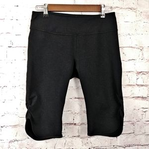 ZELLA black capris with ruched sides